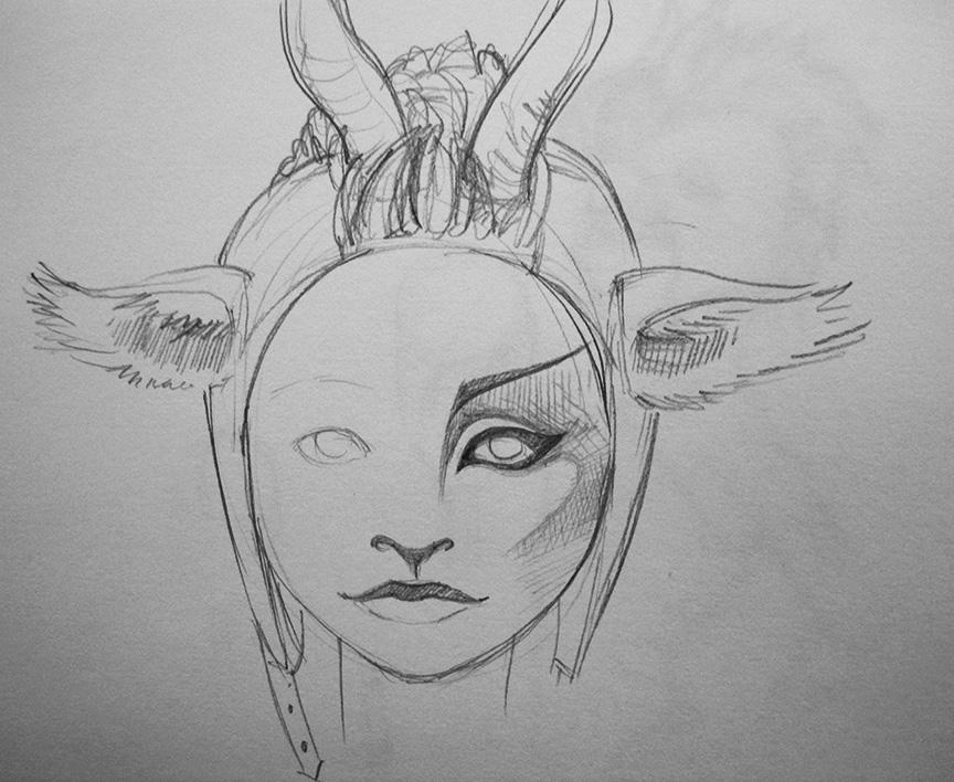 Sketchy Makeup Concept...