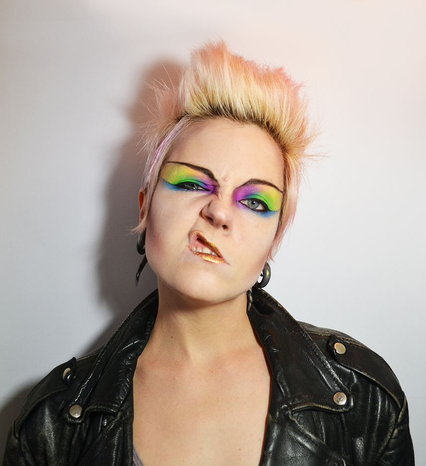 Makeup Monday: 80u0026#39;s Neon Punk, aka billybowiefrank. March 03 2014, 0 ...